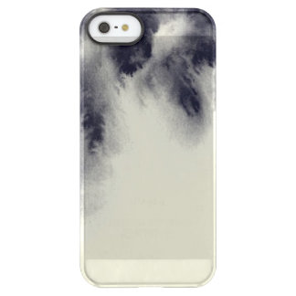 Abstract ink painting on grunge paper texture. permafrost® iPhone SE/5/5s case