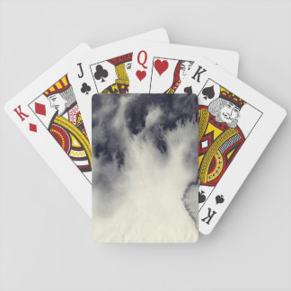 Abstract ink painting on grunge paper texture. playing cards