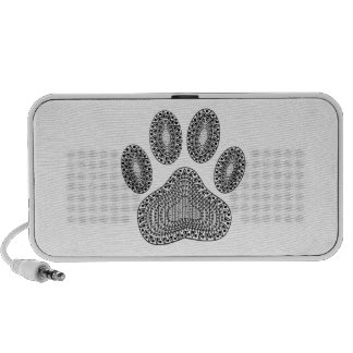 Abstract Ink Paw Print iPhone Speakers