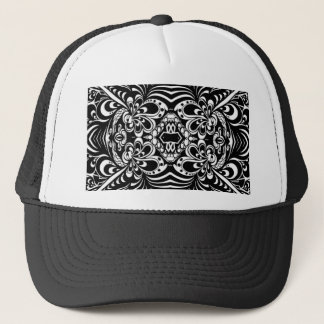 Abstract Ink Peacock Trucker Hat