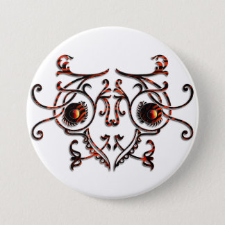 Abstract Insect 7.5 Cm Round Badge