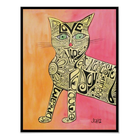 Abstract Inspiration Cat Poster