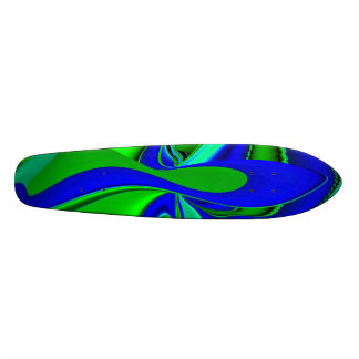 Abstract into green blue skate board