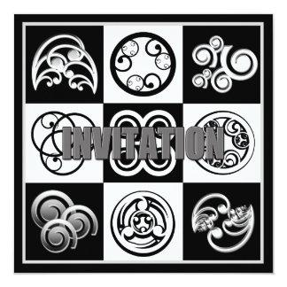 Abstract Invitation - Multi Purpose Black & White
