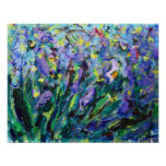 Abstract Irises Poster