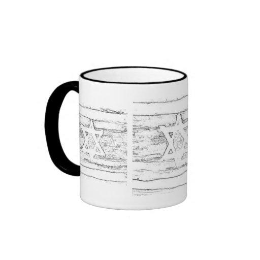 abstract israel black and white mug