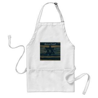 abstract israel standard apron