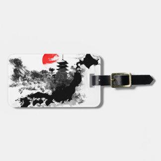 abstract japan - kyoto luggage tag