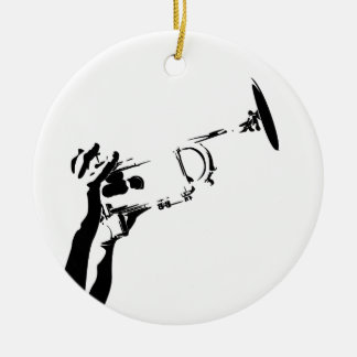 Abstract Jazz Trumpet Ornament