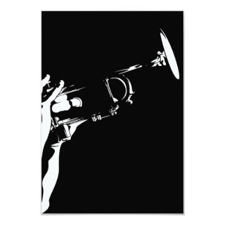 Abstract Jazz Trumpet RSVP Card