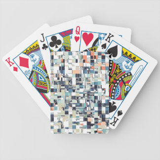 Abstract Jumbled Mosaic Bicycle Playing Cards