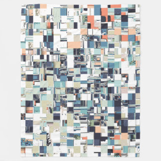 Abstract Jumbled Mosaic Fleece Blanket