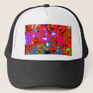 Abstract Jungle Red Trucker Hat