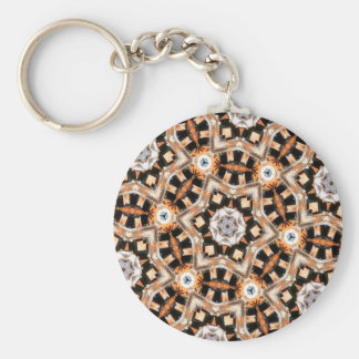 Abstract Kaleidoscope Basic Round Button Key Ring