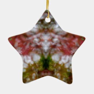 Abstract kaleidoscope figure and faces christmas ornament