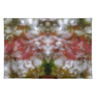 Abstract kaleidoscope figure and faces placemat