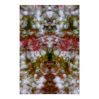 Abstract kaleidoscope figure poster