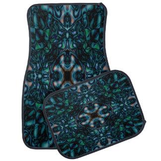 Abstract kaleidoscope figures pattern car mat