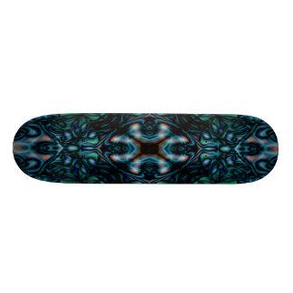 Abstract kaleidoscope figures pattern custom skateboard