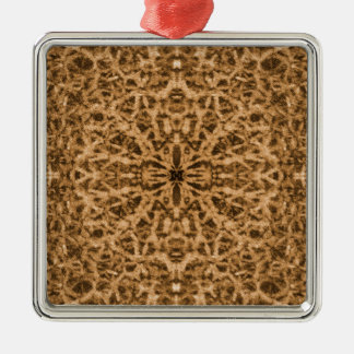 Abstract kaleidoscope fur pattern christmas ornament