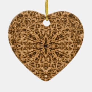 Abstract kaleidoscope fur pattern christmas ornament