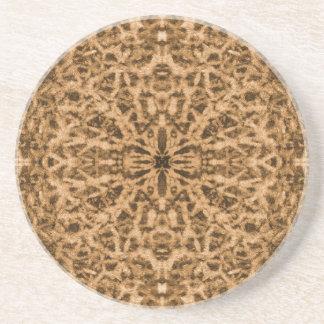 Abstract kaleidoscope fur pattern coaster