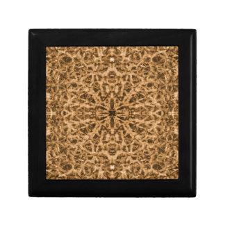 Abstract kaleidoscope fur pattern gift box
