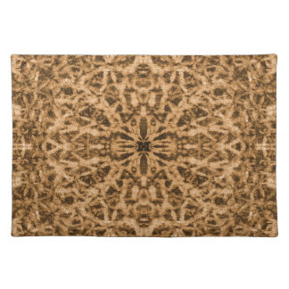 Abstract kaleidoscope fur pattern placemat