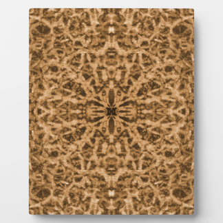 Abstract kaleidoscope fur pattern plaque