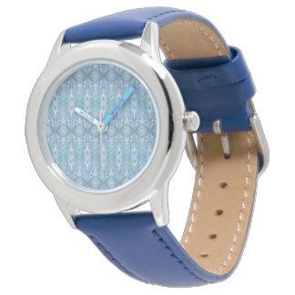 Abstract Kaleidoscope Pattern Blue atch Wrist Watch