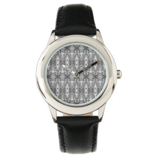 Abstract Kaleidoscope Pattern - Grey Watch