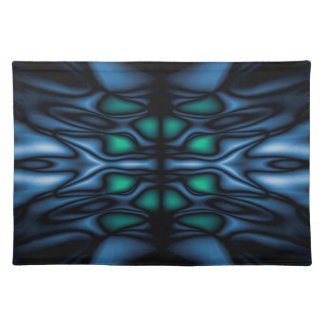 Abstract kaleidoscope pattern placemat