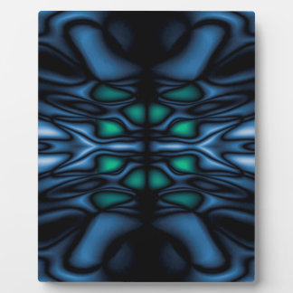 Abstract kaleidoscope pattern plaque