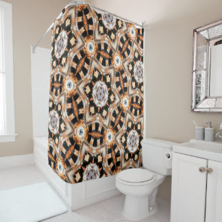 Abstract Kaleidoscope Shower Curtain