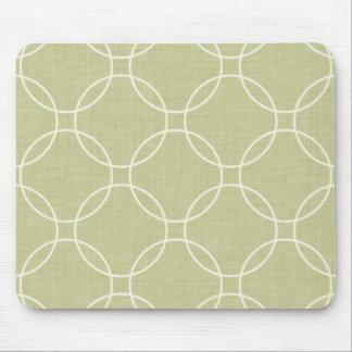 Abstract khaki circles mouse pad
