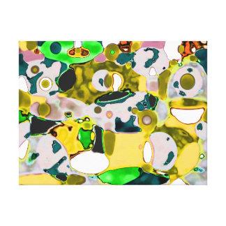 Abstract khaki violet  green canvas  print
