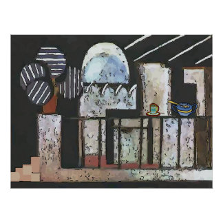 Abstract Kitchen Poster