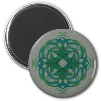 Abstract Knotwork 6 Cm Round Magnet