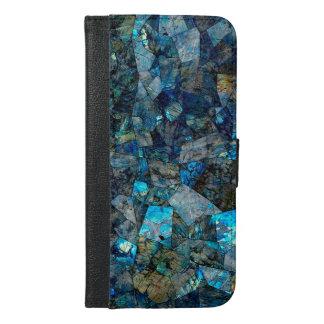Abstract Labradorite Mosaic Folio Wallet Case
