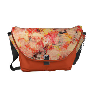 Abstract Lace Roses Messenger Bags