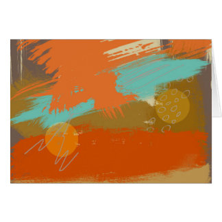Abstract Landscape Art Paint Circles Spheres Card