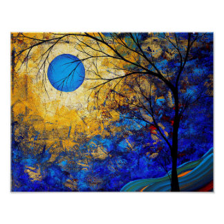 Abstract Landscape Art Painting Print Renaissance