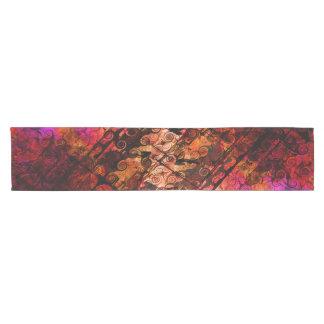 Abstract Landscape Art Swirls Lines Purple Red