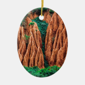 Abstract landscape. christmas ornament