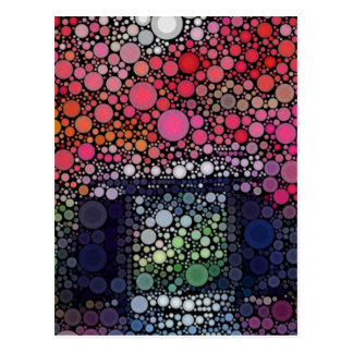 Abstract Landscape Circles Bubbles Modern Art Postcard