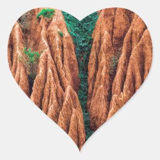Abstract landscape. heart sticker