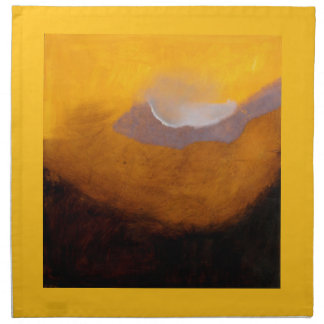 Abstract Landscape Painting with Cloud Napkin