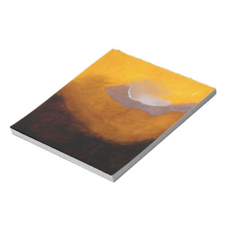 Abstract Landscape Painting with Cloud Notepad