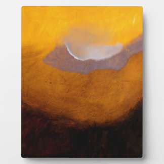 Abstract Landscape Painting with Cloud Plaque