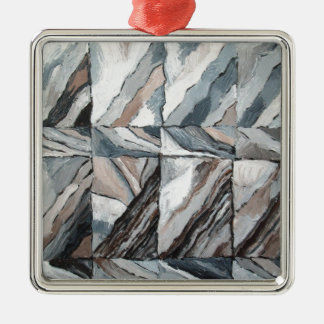 Abstract Landscape restoring itself Silver-Colored Square Decoration